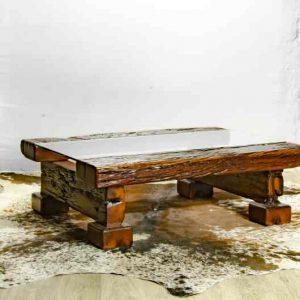 Sleeper Coffee Table with Glass Inlay