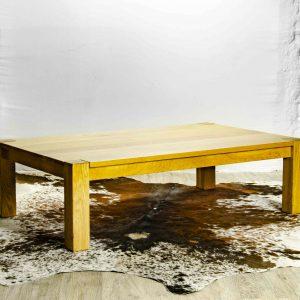 Oak Box Leg Coffee Table