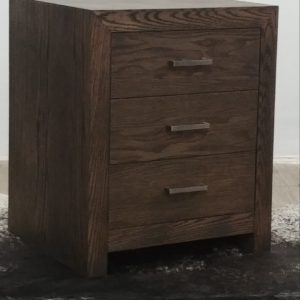 Topaz Pedestal 3 Drawer in Charcoal